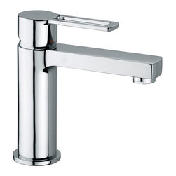 WS Bath Collections - Ringo 071 Single Lever Washbasin Mixer - Ringo by WS Bath Collections Single Lever Washbasin Mixer without Waste in Polished Chrome
