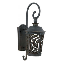 Maxim - Maxim Whisper Dark Sky EE One Light Bronze Wall Lantern - This One Light Wall Lantern is part of the Whisper Dark Sky Ee Collection and has a Bronze Finish. It is Wet Rated, Outdoor Capable, and Energy Star Compliant.