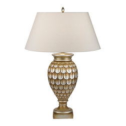 Fine Art Lamps - Recollections Gold Table Lamp, 829210-2ST - Bring a fanciful touch to your favorite setting with this curvaceous, mermaid-inspired lamp. The antiqued finish works beautifully with a simple beige shade.