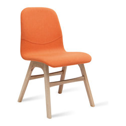 Bryght - Ava Tangerine Fabric Oak Dining Chair - Liven up your space with these heart warming Ava dining chairs. Available in a variety of vibrant colors, the Ava chair with its soft contours is sure to woo anyone with an eye for design.