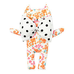 Youttle - Kim the cat cuddle soft toy liberty flowers - Kim the cat makes a classic and heartfelt gift for newborns and other little ones. Handmade in France, this sweet kitty is so cuddly you might be tempted to keep her for yourself.