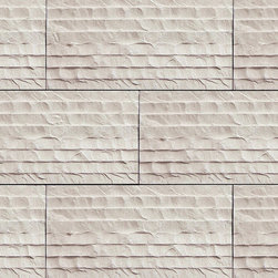 "Coronado Stone Products - Coronado Chiseled Limestone Tile - Color: Cream - Stone Veneer Tile - Coronado Chiseled Limestone Tile - Color: Cream - 12""x24"" Stone Veneer Tile"
