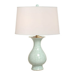 Emissary - Baluster Vase Celadon Lamp - This graceful, Asian inspired ceramic table lamp is designed to shine a beautiful light in any room of your home.