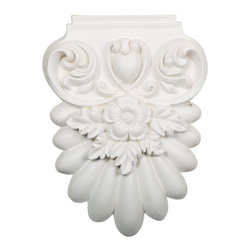"""Ekena Millwork - 7 1/4""""W x 10""""H x 1 5/8""""P Avery Onlay - 7 1/4""""W x 10""""H x 1 5/8""""P Avery Onlay. Our appliques and onlays are the perfect accent pieces to cabinetry, furniture, fireplace mantels, ceilings, and more. Each pattern is carefully crafted after traditional and historical designs. Each polyurethane piece is easily installed, just like wood pieces, with simple glues and finish nails. Another benefit of polyurethane is it will not rot or crack, and is impervious to insect manifestations. It comes to you factory primed and ready for your paint, faux finish, gel stain, marbleizing and more."""