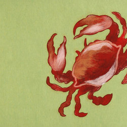 """Trans-Ocean - 20""""x29.5"""" Visions II Crab Red Mat - The highly detailed painterly effect is achieved by Liora Mannes patented Lamontage process which combines hand crafted art with cutting edge technology.The 100% Polyester face, and 100% Recycled Rubber non-skid backing make this suitable for Indoor or Outdoor use and easy to clean.The low profile nature of these Lamontage mats is ideal for use in front of doors or in the kitchen, and the fun designs will bring excitement to any room of the house. Made in USA."""