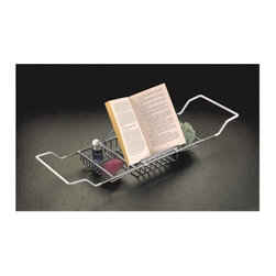 Taymor - Bathtub Caddy with Reading Rack, Polished Brass - Relaxation at home in your own bathroom! Pick up a book and enjoy utilizing the Taymor Bathrub Caddy with Reading Rack while bathing.