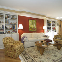 living room by Case Design/Remodeling, Inc.