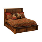 Fireside Lodge - Barnwood Platform Bed  Reclaimed Wood, Full Size - Reclaimed Red Oak Barnwood - Full Size. A  Barnwood  Platform  Bed  is  a  beautiful  way  to  showcase  your  appreciation  for  natural  reclaimed  wood.  Handcrafted  with  attention  to  detail,  this  attractive  aged  wood  bed  is  finished  in  a  clear  catalyzed  laquer  to  preserve  the  natural  colors  and  distinctive  character  of  the  wood.  Salvaged  from  19th  century    barns,  these  posts  and  planks  retain  the  saw  marks,  knots,  texture,  and  color  of  decades  of  wind  and  weather.                  Standard  T-support  in  all  queen  and  king  sizes              Add  an  optional  footboard  dresser  to  maximize  storage  space  (See  image  below). Includes  2  dovetail  drawers  with  full-extension  glides               Free  curbside  shipping  within  the  lower  48  states.              We  offer  shipping  upgrades  for  your  convenience,  including  inside  delivery  and  setup.                Old  World  Craftsmanship                      Optional  underbed  storage:  Choose  side  drawers  OR  footboard  drawers                                                Footboard  Dresser  -  Two-drawer                                  Underbed  3-Drawer  Dresser                                 Footboard  Dresser  is  available  as  an  add-on  to  any  rustic  Platform  Bed  crafted  by  Fireside  Lodge.                  Complete  Reclaimed  Wood  Platform  Bed  -  Dimensions  and  Pricing                                    Size                      Model                      Dimenisons                      Weight                      Price                                      King                      B10010-PF                      83Wx89Lx53H                      490                      2149.00                                      California  King                      B10010-CK-PF                      77Wx94Lx55H                      495                      2149.00                                      Queen                      B10040-PF                      65Wx89Lx53H                      425                      1959.00                                      Full  (Double)                      B10070-PF                      59Wx84Lx53H                      375                      1879.00                                      Twin  (Single)                      B10100-PF                      44Wx84Lx53H                      315                      1769.00                                  Footboard  Dresser  is  available  as  an  add-on  to  any  Platform  Bed  crafted  by  Fireside  Lodge.