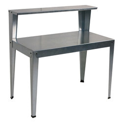 Poly-Tex Galvanized Steel Potting Bench - Technically, this multifunctional piece is a potting bench, but I'd love to use it as a lemonade stand, drink station or dessert table.