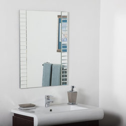 Decor Wonderland - Beveled Bathroom Wall Mirror - 24W x 32H in. Multicolor - SSM84M - Shop for Bathroom Mirrors from Hayneedle.com! The Beveled Bathroom Wall Mirror - 24W x 32H in. shows off a distinctive edge crafted from 40 unique beveled mirrors that surround the sizeable glass at the accent piece's center. It's a dynamic look that's sure to add a visual flair to any living area bedroom foyer or even the bathroom! With every glass tile being hand-cut you can proudly tell your guests that you own a truly one-of-a-kind wall ornament.About Decor Wonderland of USDecor Wonderland US sells a variety of living room and bedroom furniture mirrors lamps home office necessities and decorative accessories. Decor Wonderland strives to add variety to their selection so that every home is beautifully and perfectly decorated to suit their customer's unique tastes.