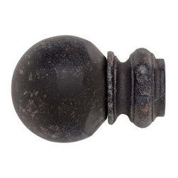 Kirsch Wrought Iron Pedestal Ball Finial - Kirsch Wrought Iron Pedestal Ball Finial