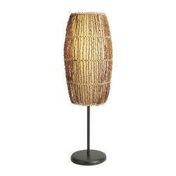 ORE International - Table Lamp: 31.5 in. Rattan Natural Table Lamp 31140T - Shop for Lighting & Fans at The Home Depot. This casual design offers a finely-crafted look. A rattan weave shade, combined with a fabric inner shade and black finished base, creates visual appeal. Add this up light accent lamp to end tables, a buffet, or anywhere to complement your comfortable decor.