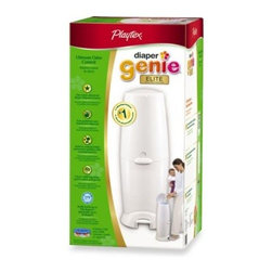 Playtex - Playtex Diaper Genie Elite Diaper Disposal System - The Diaper Genie Elite Diaper Disposal System is easy to use, thanks to a hands-free foot pedal. Simply step on the pedal to open the unit and drop the diaper in.
