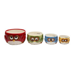 Cosmos - 4 Pc Set of Colorful and Festive Christmas Owl's Measuring Cups - This gorgeous 4 Pc Set of Colorful and Festive Christmas Owl's Measuring Cups has the finest details and highest quality you will find anywhere! 4 Pc Set of Colorful and Festive Christmas Owl's Measuring Cups is truly remarkable.