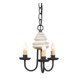 Bellview Wooden Chandelier in Americana Colors, Vintage White - The warm and welcoming glow created by our Bellview Chandelier will add a country elegance to your home. The Bellview is destined to become a homespun treasure.