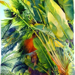 Watercolor - Cayman Palm