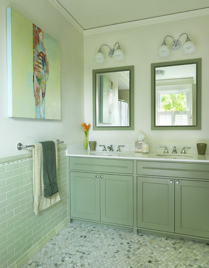 transitional bathroom by Rachel Reider Interiors