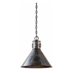 Uttermost - Levone 1-Light Oxidized Bronze Pendant - Oxidized bronze finish.