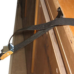Kid Kusion - Pro-Strap Professional Furniture/TV Straps - Stabilize your furniture and electronics with these durable, professional quality straps. These easy to install, extra long straps have a metal cam lock buckle for secure tightening. This set of two straps is available in either white or black, to seamlessly blend with your decor.