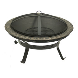 "Sunnydaze Decor - Antique Gold Cast Iron Fire Pit - 30"" Diameter x 12 1/2"" Tall, 30"" Diameter Fire Bowl, 7"" Clearance,40 lbs"