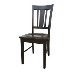 International Concepts - International Concepts San Remo Splat Dining Side Chair in Rich Mocha (set of 2) - International Concepts - Dining Chairs - C1510P