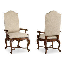Hooker - Hooker Adagio Upholstered Side Chair (Set of 2) - Grand scale, classic design and soft, flowing shapes are married with a rich, dark finish to give birth to the stunning Adagio collection.