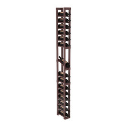 1 Column Display Row Cellar Kit in Pine with Walnut Stain + Satin Finish - Make your best vintage the focal point of your wine cellar. High-reveal display rows create a more intimate setting for avid collectors' wine cellars. Our wine cellar kits are constructed to industry-leading standards. You'll be satisfied. We guarantee it.