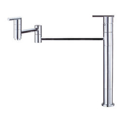 "Danze - Danze D206558 Chrome Parma Deck Mounted Pot Filler Faucet with 21"" - Product Features:Faucet body and handles feature all-brass constructionFully covered under Danze's limited lifetime faucet warrantyHigh-quality finishing process – finish covered under lifetime warrantyKitchen faucets from Danze are designed to not only function flawlessly, but nourish the eye21"" double-jointed swinging spout at full extensionDeck mounted installation – mounts directly to sink or counter topDouble handle operation – handles rest on 1/4 turn valve seatsADA compliant handleLow lead compliant – meeting federal and state guidelines for lead contentAll hardware required for faucet installation is includedProduct Technologies and Benefits:Drip-Free Ceramic Disc Valves: By making these components standard across all of their kitchen faucets, Danze has made leaking and rough operating faucets a thing of the past. These valves provide a lifetime of smooth handle control, and never allow a drop of water out of place. They are maintenance free and are sturdy enough to withstand the most severe conditions.Product Specifications:Overall Height: 13-11/16"" (measured from mounting deck to highest point on faucet)Spout Height: 10-1/16"" (measured from mounting deck to spout outlet)Spout Reach: 21"" (measured from center of faucet body to center of spout outlet)Faucet Holes: 1 (number of holes required for faucet installation)Flow Rate: 2.5 gallons-per-minute2 handles included with faucetDesigned for use with standard U.S. plumbing supply bibs"