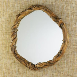 23-Inch Round Organic Root Mirror - Need a mirror for a rustic or nature-inspired room? This is the mirror for you. I personally think it has a wonderful whimsical feeling to it.