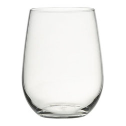 Stemless Wine Glass in Wine Glasses | Crate&Barrel - These stemless wine glasses are ultra chic, and come at such a great price that if one breaks, replacing is easy.