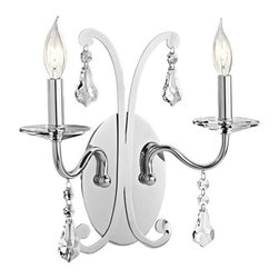 Kichler - Kichler 42543CH 2 Light 2 Light Up Lighting Wall Sconce - Leanora Collection - Features:
