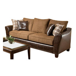 Chelsea Home Furniture - Chelsea Home Union Sofa in Too Good - Chocolate - Tokyo Oak - Union Sofa in Too Good - Chocolate - Tokyo Oak belongs to the Chelsea Home Furniture collection .