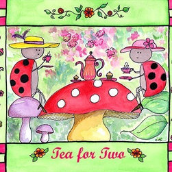 Oh How Cute Kids by Serena Bowman - Ladybug Tea Party, Ready To Hang Canvas Kid's Wall Decor, 16 X 20 - Each kid is unique in his/her own way, so why shouldn't their wall decor be as well! With our extensive selection of canvas wall art for kids, from princesses to spaceships, from cowboys to traveling girls, we'll help you find that perfect piece for your special one.  Or you can fill the entire room with our imaginative art; every canvas is part of a coordinated series, an easy way to provide a complete and unified look for any room.