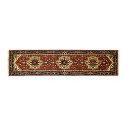 Manhattan Rugs - New Hand knotted Heriz Tribal 3'x10' Serapi Persian Love Red Oriental Rug H5111 - Heriz (Herez, Serapi)