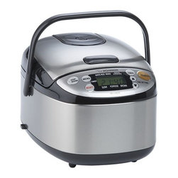 Zojirushi® Rice Cooker - Developed in Japan by the makers of the original rice cooker, a microchip maintains perfect time and temperature to produce moist, fluffy rice time after time. Nonstick spherical bowl conducts heat evenly to prevent overcooking. Convenient carrying handle; lid detaches for easy cleaning.