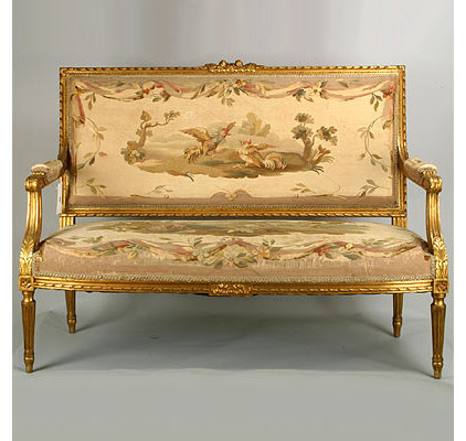 traditional love seats French Louis XVI Style Settee