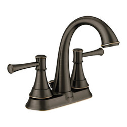 Ashville™ Faucet with Mediterranean Bronze Finish - Striking light and dark accents combine with two-handle high arc design to create a sleek and timeless faucet.