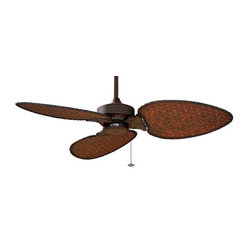 Windpointe Ceiling Fan in Rust with Woven Blades