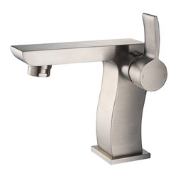 Kraus - Kraus Sonus Single Lever Basin Faucet Brushed Nickel - *It takes vision and creativity to design a masterpiece