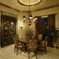 Mediterranean Dining Room by Rey Hernandez Interior Design