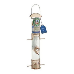 Gardman - Gardman - Copper Tube Bird Feeder - Made from die-cast alloy components. Bite proof to squirrels. Stainless steel fittings and mesh. Detachable perches and base. Bite resistant and shatterproof polycarbonate tubing. For feeding seed mixes and sunflower seed. Stainless steel hanger. Roof vents. Holes in base to allow for water drainage