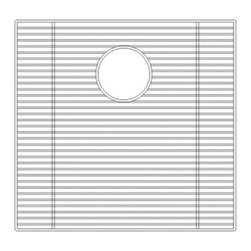 Wells Sinkware - Wells Sinkware GCS1918 Sink Grid - Heavy gauge stainless steel, Fits CSU2120-9, Protective vinyl feet and bumpers, Limited one-year warranty