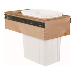 "Century Components - Century Components 35 Qt White Single Top Mount Pull Out Waste Bin - Birch, 12"" - 35 Qt White Single Top Mount Kitchen Pull Out Waste Bin Container - 12""W x 17-7/8""H x 22-1/2""D. This unit is designed to be inserted into a new or existing cabinet with a minimum opening width of 12"". Features (1) 35 Quart waste bin container. Century Components CASTM11PF is made from Baltic Birch with Dovetail Construction with a clear natural finish for great appearance, quality and durability."