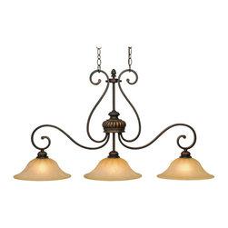 Golden Lighting - Golden Lighting 7116-10 LC Island Light - Complements casual, Mediterranean and eclectic decor