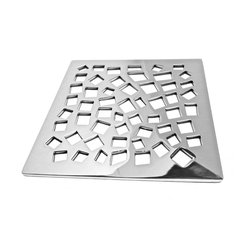Designer Drains - Random Squares - Geometric beauty abounds on your shower floor when you install this unique drain. The polished stainless steel will gleam as the water works its way through the squares, creating an engrossing pattern for your modern bathroom decor. Drain sizes vary. Please measure carefully before ordering.