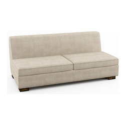 Viesso - Viesso Brenem Armless Sofa Bed (Eco-Friendly) - The main elements that set our sofa beds apart from others are the modern design and the comfort of the sofa and mattresses we carry.  People all the time tell us they like the Brenem model because it is very simple in its design, a great example of modern furniture.  Viesso designs and manufactures this piece of modern furniture. All of the sofa beds from the Viesso line are built one at a time in Los Angeles in 3 weeks. With all the custom options available, they are truly built for you and your space. A custom sofa bed that's also an eco sofa bed. Yes, it's that good.
