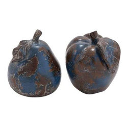 "Benzara - Ceramic Decorative Stoneware Made Apple and Pear Decor (Set of 2) - Ceramic Decorative Stoneware Made Apple and Pear Decor (Set of 2). Spruce up your room decor with this unique and appealing Ceramic Apple and Pear. It comes in the following dimension 8""W x 7""D x 9""H and 8""W x 8""D x 9""H. Some assembly may be required."