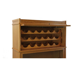 Hale - Wine Rack Insert for 31515 Extra Deep Section, #64- Natural - Store your wine collection in style with this solid wood wine rack insert. Add this wine rack insert to the Hale extra deep receding door barrister section #31515. As your collection grows, simply add more modular barrister sections and wine rack inserts.