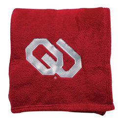 Collegiate Delight - University of Oklahoma Throw - Collegiate embroidered throws are essential components of every season. These officially licensed products make perfect gifts.
