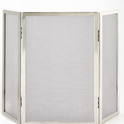 Tulun Fireplace Screen - Clean lines and a simple design make this fireplace screen the ideal choice for contemporary or transitional settngs.